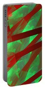 Abstract Tiled Green And Red Fractal Flame Portable Battery Charger