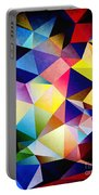 Abstract Triangles And Texture Portable Battery Charger