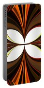Abstract Triptych - Brown - Orange Portable Battery Charger