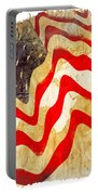 Abstract Usa Flag Portable Battery Charger by Stefano Senise