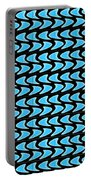 Abstract Waves On A Black Background Portable Battery Charger