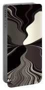 Abstract Wings In Black Portable Battery Charger