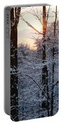 Abstract Winter Sunset Portable Battery Charger