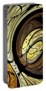 Abstract Wood Grain Portable Battery Charger