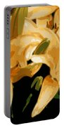 Abstract Yellow Asiatic Lily - 1 Portable Battery Charger
