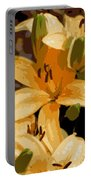 Abstract Yellow Asiatic Lily - 2 Portable Battery Charger