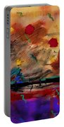 Abstract Yellow Horizontal Portable Battery Charger