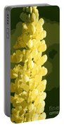 Abstract Yellow Lupine Portable Battery Charger