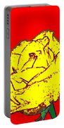 Abstract Yellow Rose Portable Battery Charger