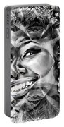 Abstracted Lady Portable Battery Charger