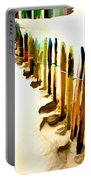 Abstracted March Of The Colored Dune Fence Portable Battery Charger