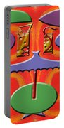 Abstraction 177 Portable Battery Charger by Patrick J Murphy