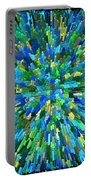Abstrract Cubes Blue Portable Battery Charger
