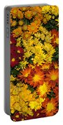 Abundance Of Yellows Reds And Oranges Portable Battery Charger