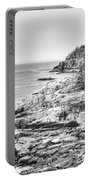 Acadia National Park In Bw Portable Battery Charger