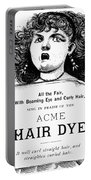 Acme Hair Dye Ad, C1890 Portable Battery Charger