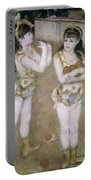 Acrobats At The Cirque Fernand Portable Battery Charger by Pierre Auguste Renoir
