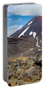 Active Volcanoe Cone Of Mt Ngauruhoe New Zealand Portable Battery Charger