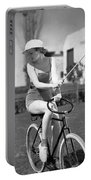 Actress Plays Bike Polo Portable Battery Charger