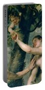 Adam And Eve Portable Battery Charger by Rubens
