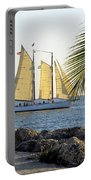 Sailing On The Adirondack In Key West Portable Battery Charger