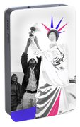 Adjusting  Torch Statue Of Liberty Statue July 4th Parade Tucson Arizona  Portable Battery Charger