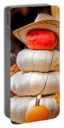 Adorable Cowboy Pumpkin Figures Made From Pumpkins Portable Battery Charger