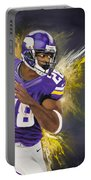 Adrian Peterson Portable Battery Charger by Don Medina