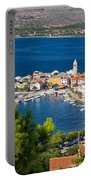 Adriatic Town Of Vinjerac Aerial View Portable Battery Charger