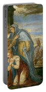 Aeneas Taking Leave Of Dido Portable Battery Charger