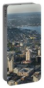 Aerial Image Of The Seattle Skyline  Portable Battery Charger