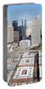 Aerial Of The Houston Skyline Portable Battery Charger