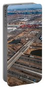Aerial Over Newark Portable Battery Charger