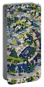Aerial Pattern Of Residential Homes Portable Battery Charger