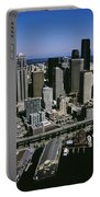 Aerial View Of A City, Seattle Portable Battery Charger