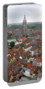 Aerial View Of Bruges Belgium Portable Battery Charger