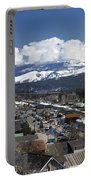 Aerial View Of Historic Downtown Truckee California Portable Battery Charger