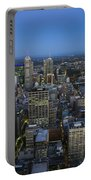 Aerial View Of Melbourne At Night Portable Battery Charger