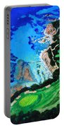 Aerial View Of Pebble Beach Portable Battery Charger