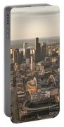 Aerial View Of The Seattle Skyline With Stadiums Portable Battery Charger