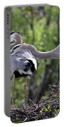 Affectionate Great Blue Heron Mates Portable Battery Charger
