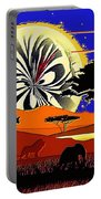 Africa At Sunset  Portable Battery Charger
