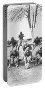 African American Football Team Portable Battery Charger