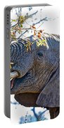African Elephant Browsing In Kruger National Park-south Africa Portable Battery Charger