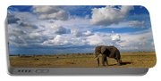 African Elephant Walking Masai Mara Portable Battery Charger