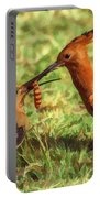 African Hoopoe Feeding Chick Portable Battery Charger