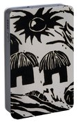 African Huts White Portable Battery Charger