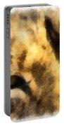 African Lion Eyes Portable Battery Charger