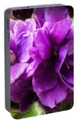 African Violet Portable Battery Charger