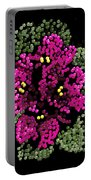 African Violets Bedazzled Portable Battery Charger